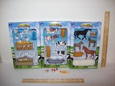 1/32  NEW Ray farm animals with extras. 3 SETS.= Cows, Horses, Chickens CYBER