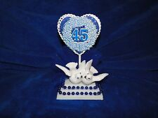 New 45th Anniversary Caketopper with love Birds and Blue decor