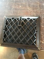 P 13 antique cleaned and lacquered crosshatch heating grate wall mount