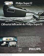 PUBLICITE ADVERTISING 075  1977  le rasoir éléctrique PHILIPS
