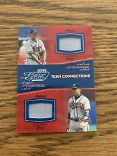 Chipper Jones & Andruw Jones Playoff Piece Of The Game Dual Relic Jersey #/500