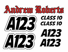 Autograss Numbers #3 Any Class Any Colour Door Signs Grass Track Graphics Set
