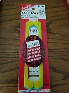 NOS Vtg Susan Bates Super-Size Yarn Bobs Pack of 2 For Bulky & Multicolor Knit