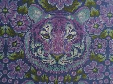 By 1/2 Yard Free Spirit Eden Tula Pink Fabric Crouching Tiger Amethyst ~ purple