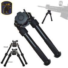 """FIRECLUB 6.5"""" - 9"""" CNC QD Tactical Bipod with Adjustable Legs Adapter Black/DE"""
