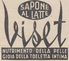V0039 Sapone al latte VISET - Pubblicità d'epoca - 1938 vintage advertising