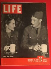 VINTAGE FEB 16,942 LIFE MAGAZINE THE COVER FEATURES SINGER AND SOLDIER VN COND