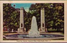 (vfp) Grand Rapids MI: World War Veterans' Memorial Pillars