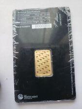 5 gram Gold Bar - Perth Mint - 99.99 Fine Gold in Sealed Certificate