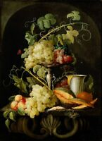 "oil painting handpainted on canvas "" Still life with fruit"""