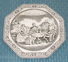 "Adams England Dickens (Black) 8 1/8"" David Copperfield Micawber Plate - VGOOD"