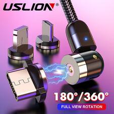 USLION 360 ° Magnetkabel Micro USB Typ C Ladekabel Für Samsung Galaxy S10 S8 S7