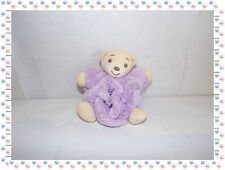 T - Mini Doudou Ours Boule Mauve Beige  Collection Plume  Kaloo