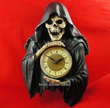Grim Reaper Figure Wall Clock Figurine Ornament Darkest Hour Gothic Pagan Occult
