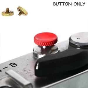 Brass Concave Shutter Release Button Rubber Ring For Lecia / Fujifilm Camera
