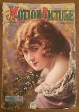 MOTION PICTURE MAGAZINE, January 1918 Movie Star Pearl White on Cover
