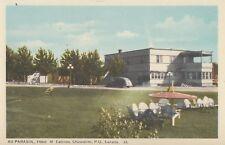 Au Parasol Hôtel & Cabines CHICOUTIMI Quebec Canada 1940s PECO Postcard 33A