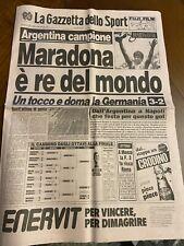 Gazzetta Dello Sport 30 06 1986 Argentina di Maradona Campione del Mondo