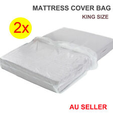 2x Mattress Protector Bag Dust Plastic Packaging Bag for Moving & Storage King