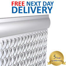 DOOR FLY CURTAIN Aluminium Metal Chain Link Bug Pest Control Insect Screen