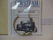 PAIR of CJW Steam BRASS BOILER BANDS  Mamod Wilesco Live Steam Models