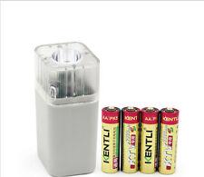 kentli4 pcs 1.5V AA 2800mWh rechargeableli-ion battery + 4 slots  USB charger