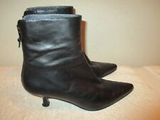 STUART WEITZMAN  A272906 black leather  Ankle BOOTIES Boots SIZE 6 M