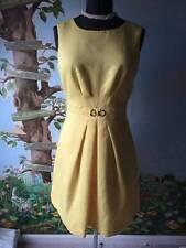 Tahari S. Levine Yellow Women Sleeveless Dress SZ 10 NWT