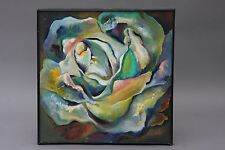 VINTAGE D GRIFFIN ABSTRACT OIL PAINTING 1960s MID CENTURY MODERN MODERNISM