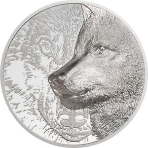 Mongolia 2000 Togrog 2021- Mystic Wolf 3 Oz