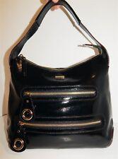Kate Spade Black Patent Leather Hobo Shoulder Bag