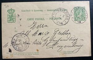1896 Troisvierges Luxembourg Postal Stationery Postcard Cover Domestic Used
