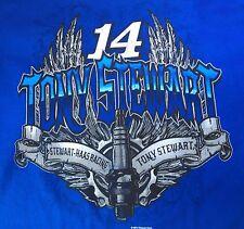 TONY STEWART-HAAS RACING TEAM #14 NASCAR MEN'S BLUE S/S T-Shirt  XL - NWT