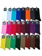 New Men Women Plain Colour Comfortable Soft Cotton Mid Calf Ankle Socks UK 6-11