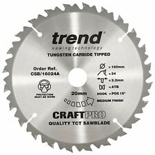 TREND CSB/16024A CRAFTPRO Plunge Saw Blade 160mm x 20mm x 24 Tooth