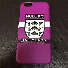 Hull FC Nero & Bianco 150 anni VIOLA COVER Telefono iPhone 6 nuovo senza etichetta