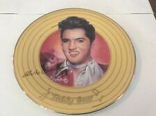 Elvis Presley Teddy Bear Plate Solid Gold Issue