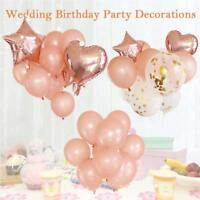 1/10/14pcs Rose Gold Foil Balloons Helium Confetti Birthday Wedding Party Decor
