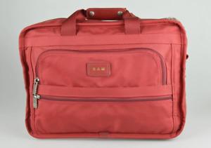 TUMI 'Alpha' Red Nylon Zippered Briefcase - 225RF