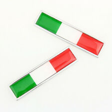 2 x Italy Italian Flag Logo Emblem Badge Motorcycle Car Sticker Decorative Decor