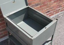 Pennant Steel Parts Industrial Vintage Rolling Metal File Cabinet