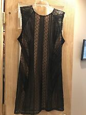 New Bar lll Dress, Women's, Black And Beige, Size XL