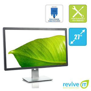 "Dell P2714H 27"" Widescreen FHD 1920x1080 IPS LED LCD Monitor DP DVI VGA Grade A"