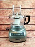 KitchenAid KFP0711CU 7 Cup Food Processor, Silver ~ Refurbished (No Pusher)