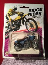 Ridge Rider Die-Cast Metal Kawasaki KZ1000 Blue Dirt Bike (#29240) - VTG