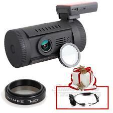 Mini 0826 Ambarella A7 Chip HD 1296p FHD Car Dash Camera DVR GPS CPL+Hard Wire