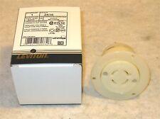 LEVITON 2416 - 20 Amp,125/250 Volt,NEMA L14-20R,3P,4W,Flanged Outlet Locking Rec