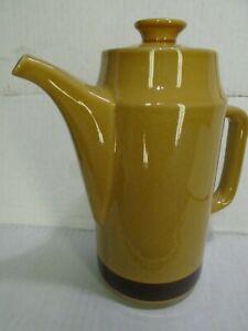 Authentic Mid-Century California Pottery Tea Pot coffee  Brown Glaze Large coffee tea Pot with Handle USA CALIFORNIA COFFEE Pot