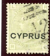 Cyprus 1880 QV 4d sage-green very fine used. SG 4. Sc 4.