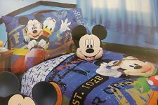 4 pc Disney Mickey Mouse Clubhouse Micky Flight Academy Toddler Bed Set NIP